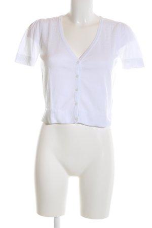 Esprit Gebreid jack met korte mouwen wit casual uitstraling