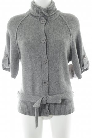 Esprit Short Sleeve Knitted Jacket light grey business style