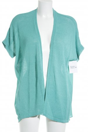 Esprit Short Sleeve Knitted Jacket turquoise classic style