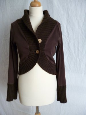 Esprit kurze Jacke in Materialmix, braun, Gr. L