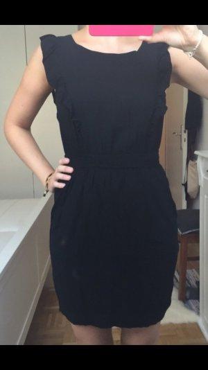 Esprit kurzes schwarzes Kleid tailliert Gr. 34