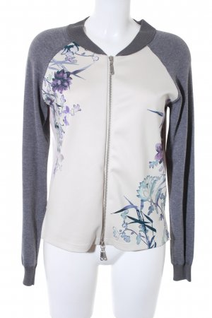 Esprit Kurzjacke creme-grau Blumenmuster Casual-Look