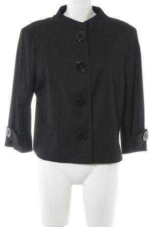 Esprit Veste courte noir Motif de tissage élégant