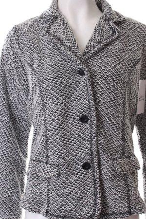 Esprit Veste courte noir-blanc Motif de tissage style classique