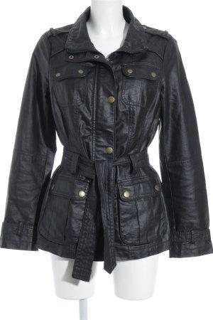 Esprit Abrigo corto negro-color oro estilo estructurado