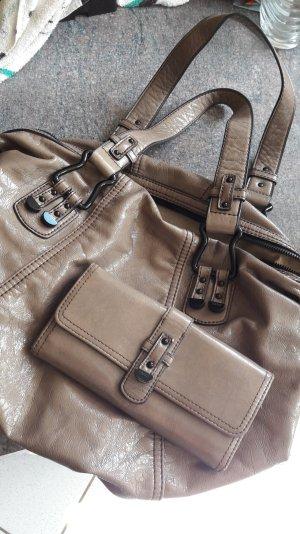 Esprit Shoulder Bag taupe-grey brown