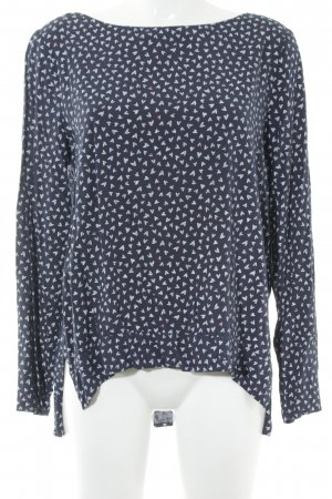 Esprit Langarm-Bluse abstraktes Muster Casual-Look