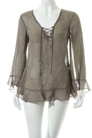 Esprit Langarm-Bluse abstraktes Muster Romantik-Look