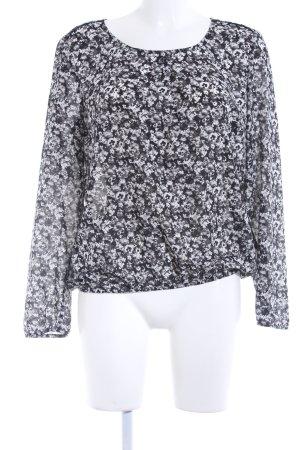 Esprit Langarm-Bluse Blumenmuster Casual-Look