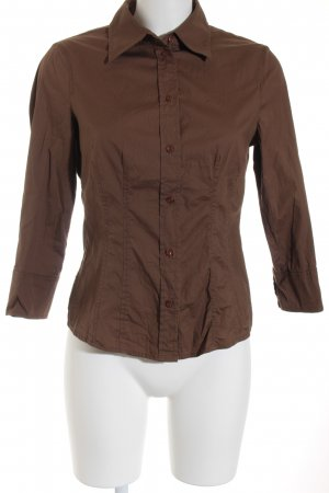 Esprit Langarm-Bluse braun Business-Look
