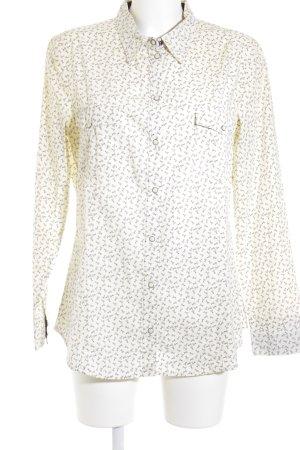 Esprit Langarm-Bluse creme-schwarz Casual-Look