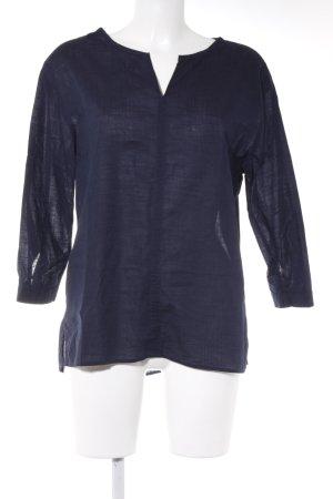 Esprit Langarm-Bluse dunkelblau Casual-Look