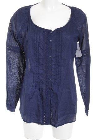 Esprit Langarm-Bluse dunkelblau Elegant