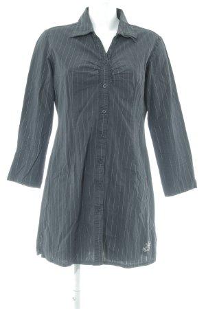 Esprit Langarm-Bluse dunkelblau-silberfarben Nadelstreifen Casual-Look
