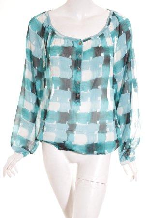 Esprit Langarm-Bluse Farbverlauf Casual-Look