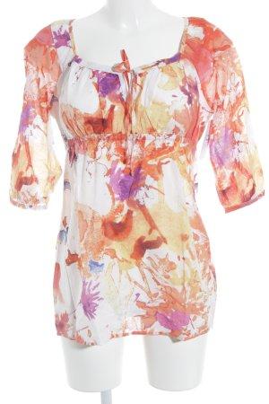 Esprit Langarm-Bluse florales Muster Casual-Look