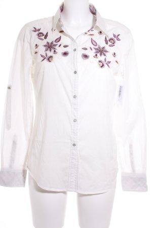 Esprit Langarm-Bluse florales Muster extravaganter Stil