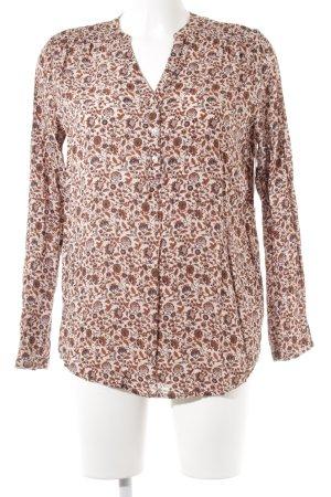Esprit Langarm-Bluse florales Muster Street-Fashion-Look