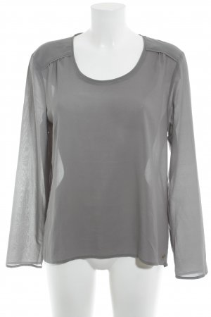 Esprit Langarm-Bluse grau Business-Look