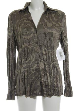 Esprit Langarm-Bluse grau-hellgrau florales Muster extravaganter Stil