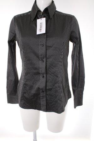 Esprit Langarm-Bluse grau-schwarz Streifenmuster Business-Look