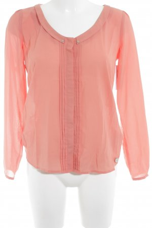 Esprit Langarm-Bluse lachs Casual-Look