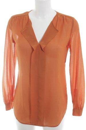 Esprit Langarm-Bluse orange klassischer Stil