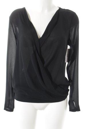 Esprit Langarm-Bluse schwarz Casual-Look