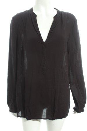 Esprit Langarm-Bluse schwarz Street-Fashion-Look