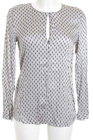 Esprit Langarm-Bluse schwarz-wollweiß Aztekenmuster Elegant