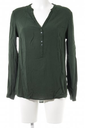 Esprit Langarm-Bluse waldgrün Casual-Look
