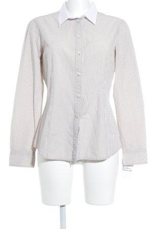 Esprit Langarm-Bluse weiß-beige Karomuster Business-Look