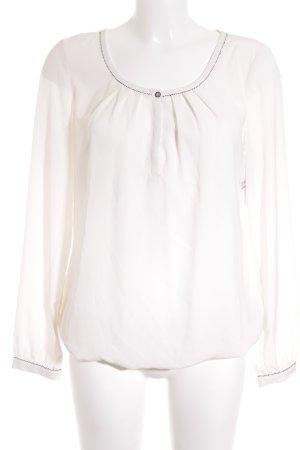 Esprit Langarm-Bluse weiß Elegant