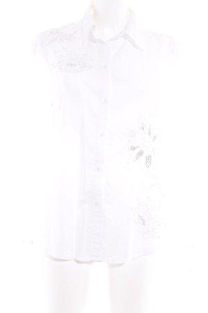 Esprit Langarm-Bluse weiß-silberfarben Casual-Look