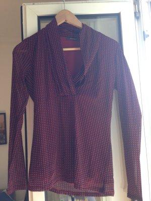 Esprit langarm langarmshirt Bluse Oberteil rot schwarz