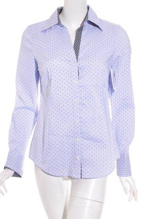 Esprit Langarmhemd himmelblau-bordeauxrot Punktemuster Casual-Look
