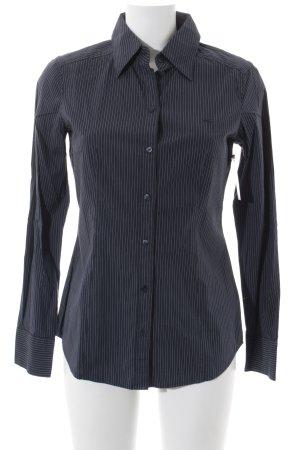 Esprit Chemise à manches longues blanc-bleu foncé rayure fine