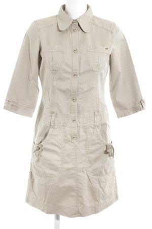 Esprit Langarmkleid beige Safari-Look
