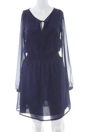Esprit Langarmkleid blau-schwarz Streifenmuster Elegant