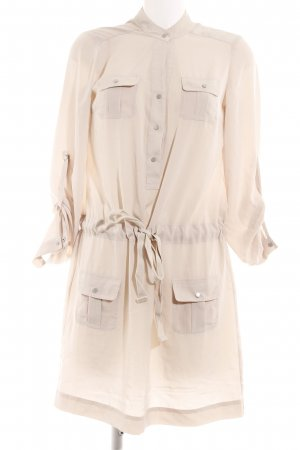 Esprit Langarmkleid creme Safari-Look