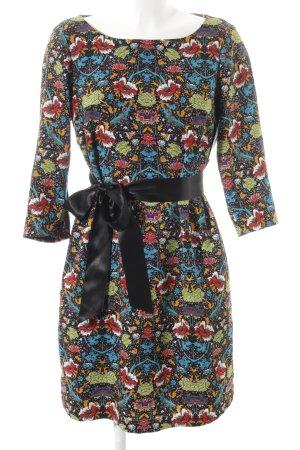 Esprit Langarmkleid rot-kornblumenblau Blumenmuster Street-Fashion-Look