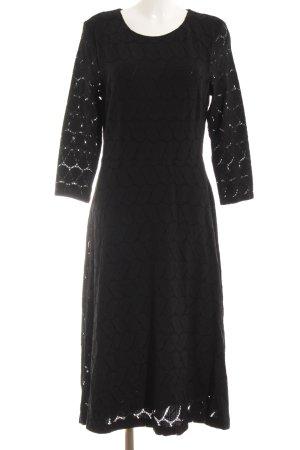 Esprit Robe à manches longues noir imprimé aztèque