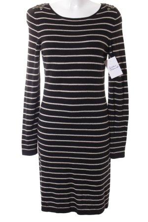 Esprit Langarmkleid schwarz-hellbeige Streifenmuster schlichter Stil
