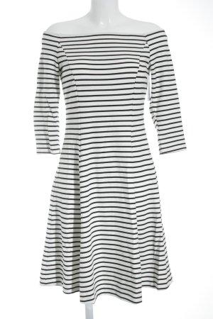 Esprit Langarmkleid schwarz-weiß Streifenmuster Casual-Look