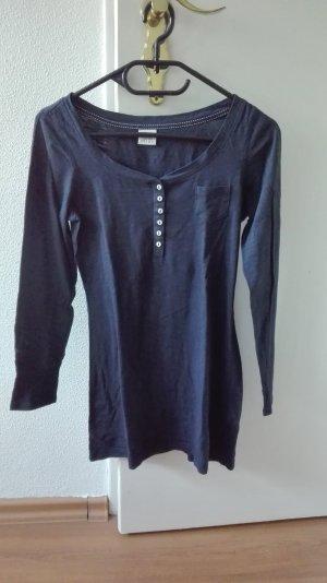 Esprit Langarmshirt blau Basic Essentials XS 34 Sweatshirt Knopfleiste