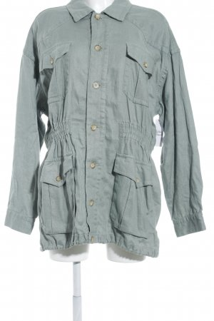 Esprit Lange Jacke graugrün-khaki schlichter Stil