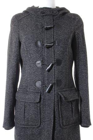 Esprit Lange Jacke schwarz-silberfarben meliert klassischer Stil