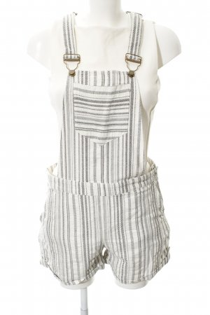 Esprit Overall licht beige-zwart abstract patroon Metalen elementen