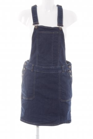 Esprit Pinafore Overall Skirt dark blue jeans look