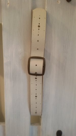 Esprit Leather Belt natural white leather